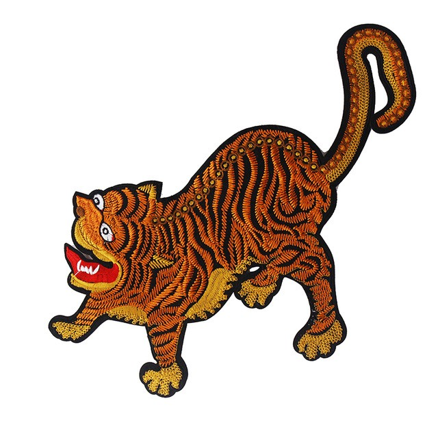 5piece Tiger Pattern Cloth Patches Decoration