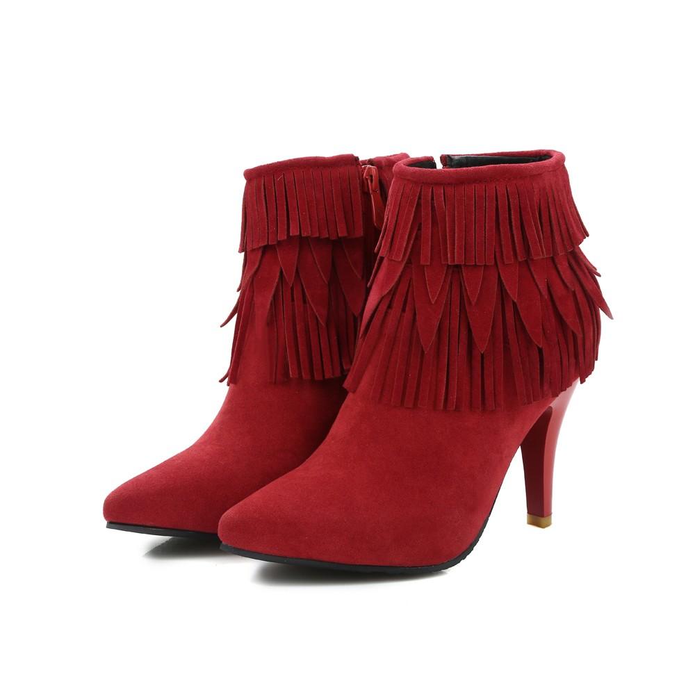 Bottines femme compensées à Talons Hauts Bottines Bout Rond Boucle Chaussures Grandes Tailles UK