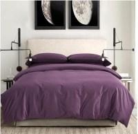 100% Egyptian cotton sheets dark deep purple bedding sets