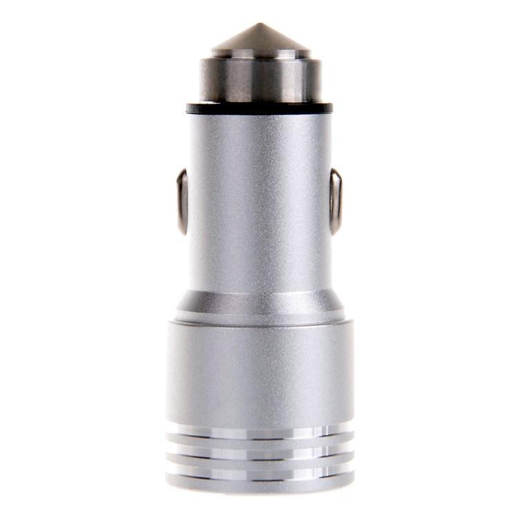 3.1 מתכת בטיחות פטיש כפול פלט USB מטען לרכב לאייפון 5/6 iPad 4/5 Samsung LG Huawei טלפון הנייד למתאם הטעינה