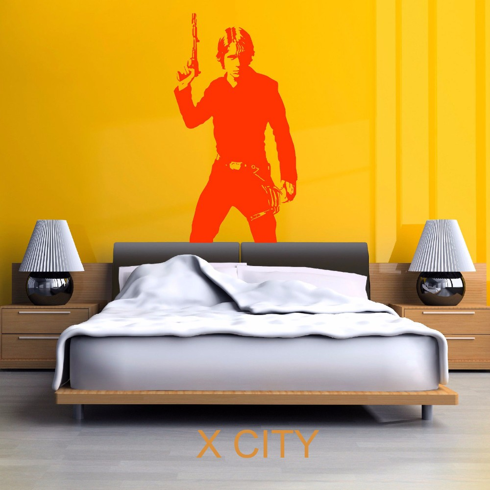 ᐂSTAR WARS LUKE SKYWALKER vinyl wall art decal sticker room ...