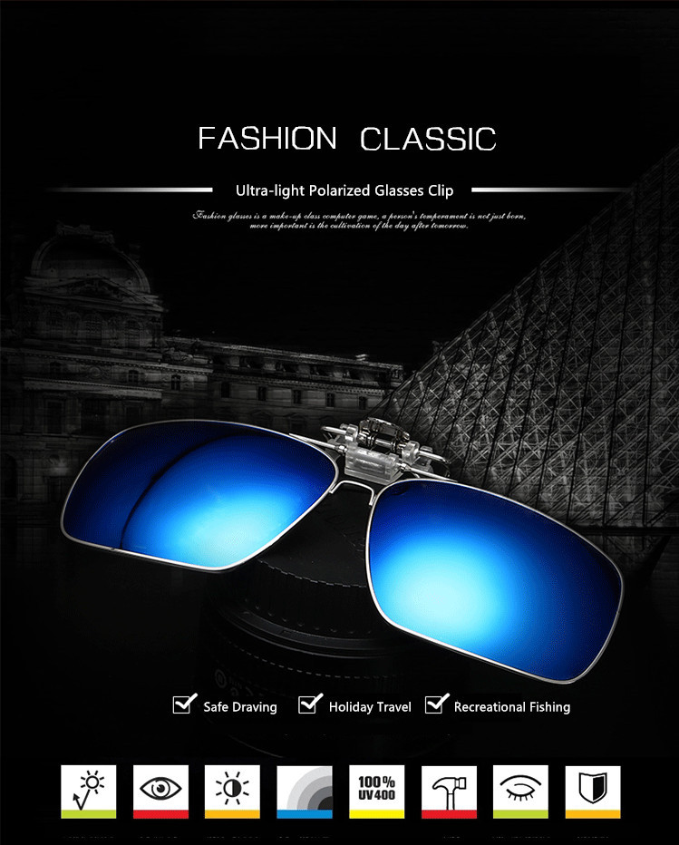 UVLAIK Óculos Polarizados Clip sobre Óculos Míopes Mulheres Homens Clip  sobre óculos de Sol Óculos de Condução Óculos de Visão Noturna e49b1fb038