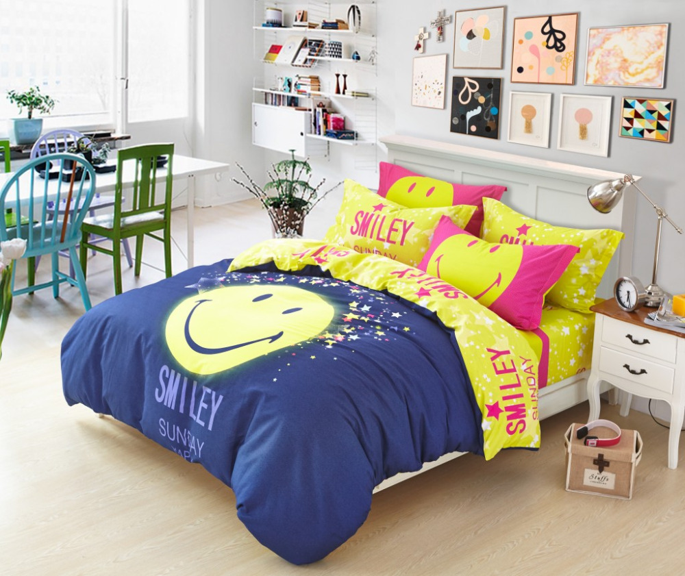 Housse couette smiley