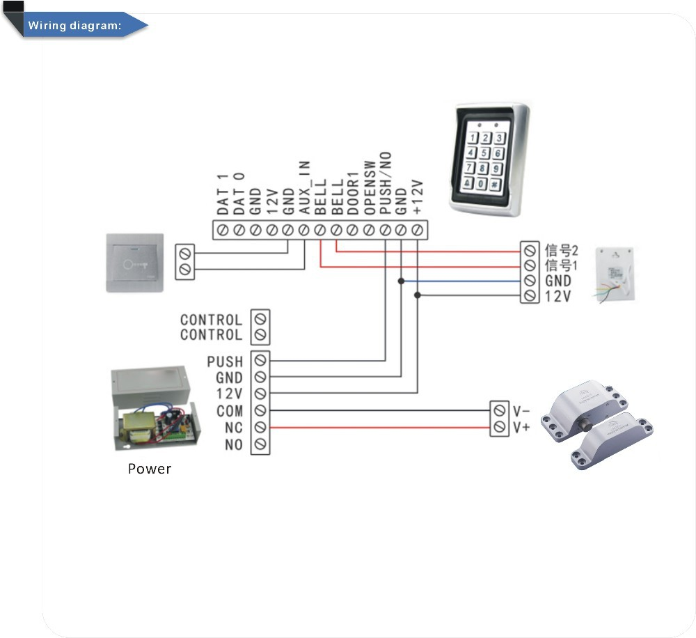 Diy High Quality Hm K29 Assembly Electric Lock Cabinet Access Electronic Wiring Diagram Features Do Manual Work Is Very Exquisite Dont Need To Open Holes Cutting Installation Simple Voltage Dc12v Current 160 Ma Shut Down The