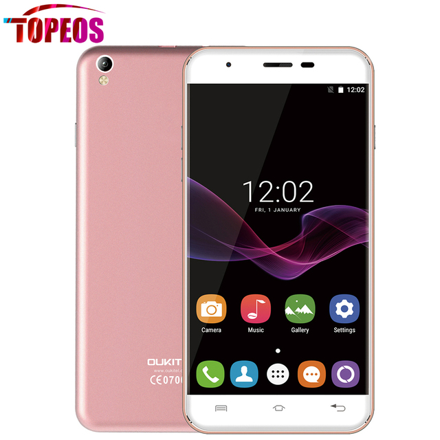 OUKITEL U7 MAX Mobile Phone 5.5 inch MT6580A Quad Core 1GB RAM+8GB ROM 3G WCDMA GSM 1280x720 HD Android 6.0 Dual SIM 8.0MP