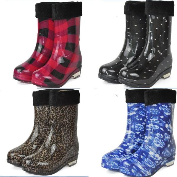 Leopard Print Rain Boots