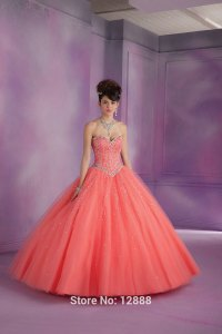 Coral Quinceanera Dresses 2015 | aliexpress com buy coral ...