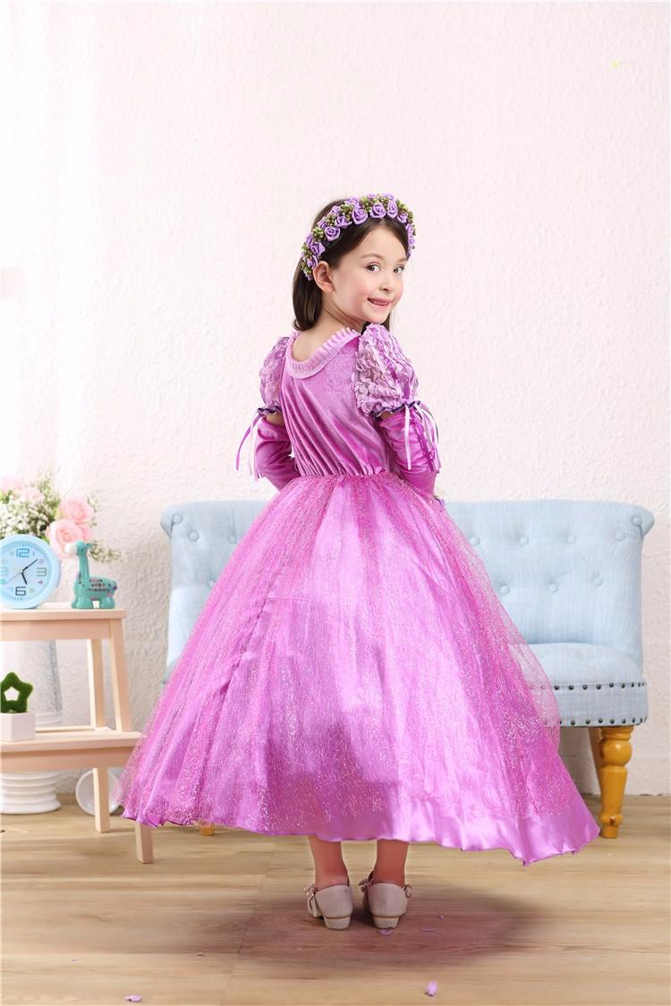 ③CaGiPlay niña Rapunzel princesa vestido niños vestido de fiesta de ...
