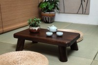 Small Japanese Wood Table Traditional Rectangle 60*35cm