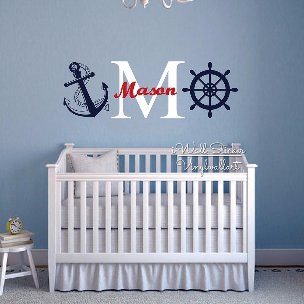 ᗑ】Pared de los niños Baby Nursery etiqueta de la pared nombre