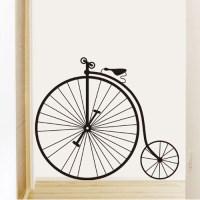1 set Removable PVC Decals Big Wheel Bike Art Wall Sticker