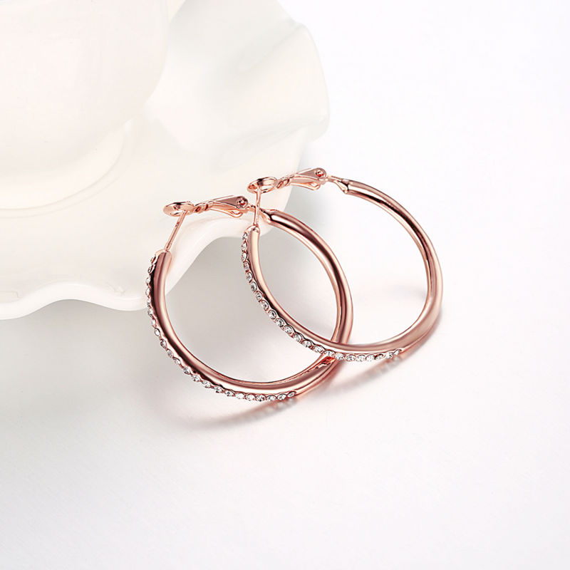 NRG 316L Jewelry Rose//Pink Gold Color Plated Spiral Flower Vine Cocktail Ring with Pearls /& Topaz CZ