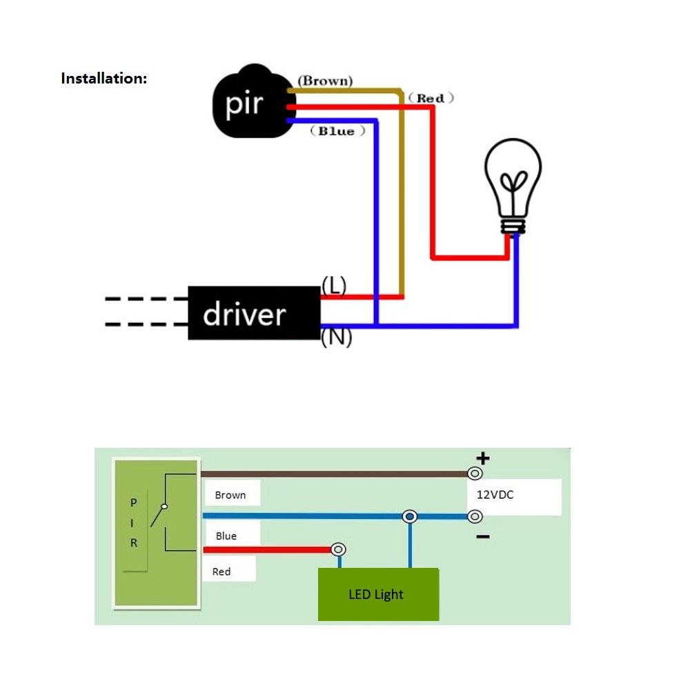 medium resolution of rondaful motion led wiring diagram wiring diagrams u2022 12v led wiring diagram 120v led wiring diagram