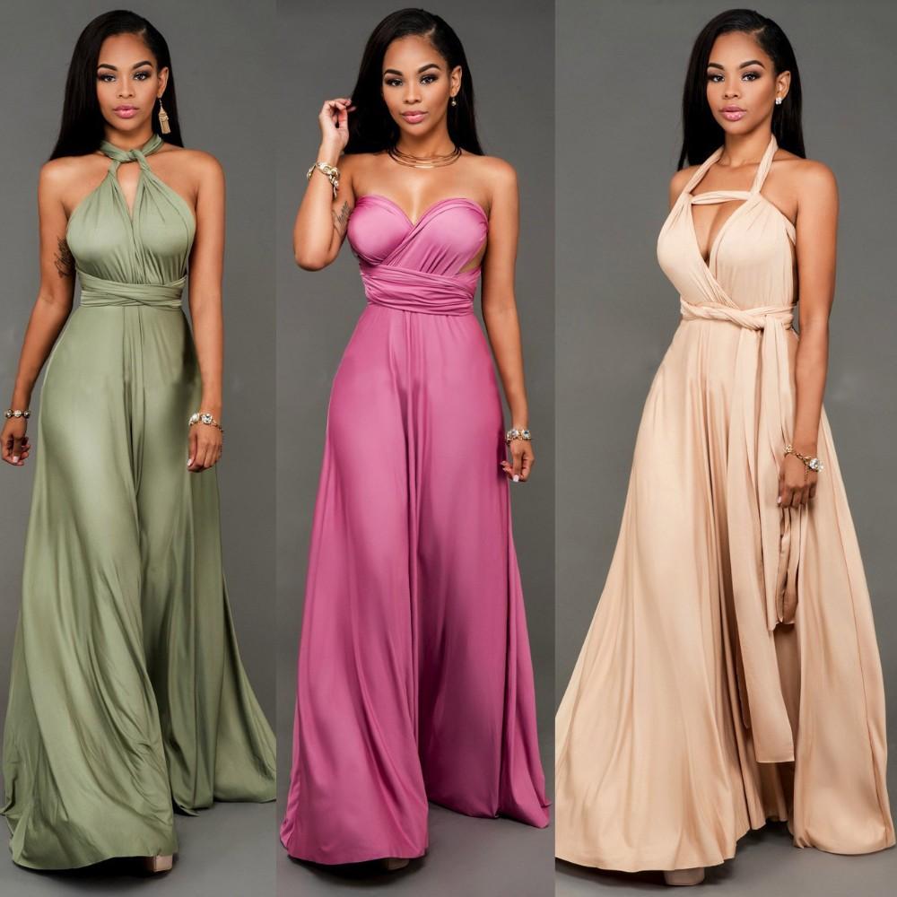 Adogirl vestido de festa mujer elegante Maxi vendaje Vestidos sexy ...