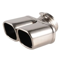 Stainless Steel Car Exhaust End Pipes Silver Dual Tips ...