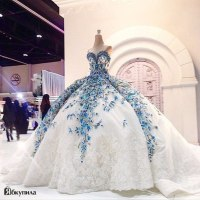IMG809 Romantic Big Ball Gown Wedding Dress Blue Bride ...