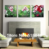 3 Piece Large Landscape Abstract Flowers Wall Hanging ...