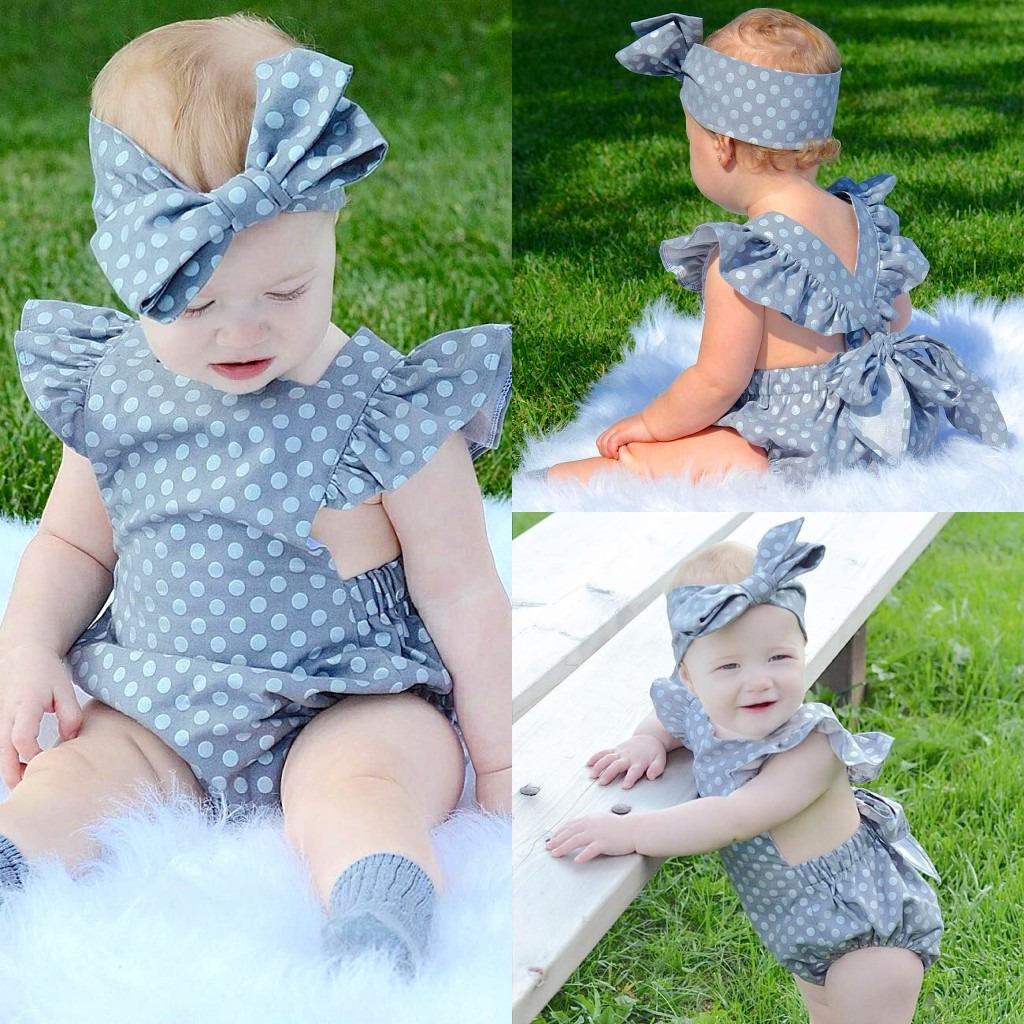 Etats-Unis Nouveau-né Bébé Filles Floral Ange Body Combinaison Tenues Sunsuit clothes