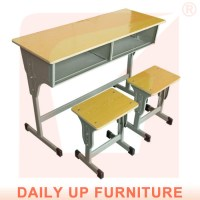 Two Seater School Desk & Chair Classroom Bench Furniture ...