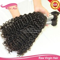 Curly human hair for braiding bulk no attachment braiding ...