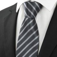Ties Men Neckties Striped Ties for Men Gray Black Stripe ...