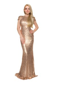 Online Get Cheap Long Gold Prom Dresses