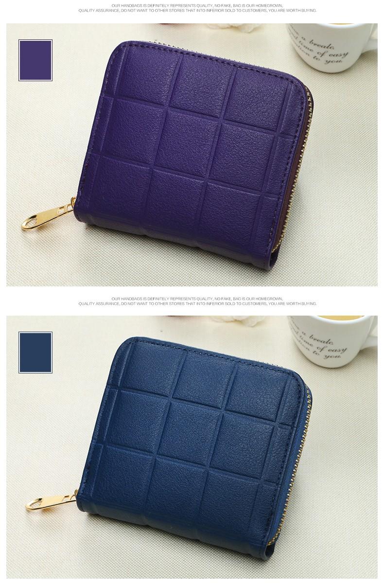 b088face44b ᐂ2018 새로운 높은 품질 지갑 여성 패션 지갑 PU 가죽 여성 격자 무늬 ...