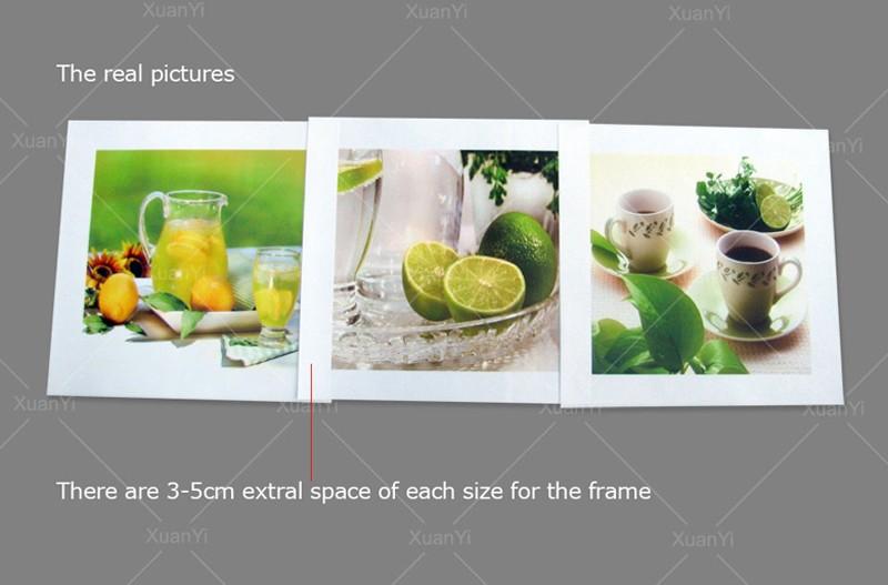 Limonade lemon lime verre cuisine encadrée toile wall art imprimé photo