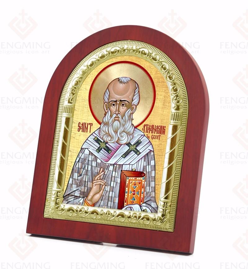 Φ ΦNuovo Simboli Religiosi Argento Icona Saint Athanasius il Grande ... b40e436d2985