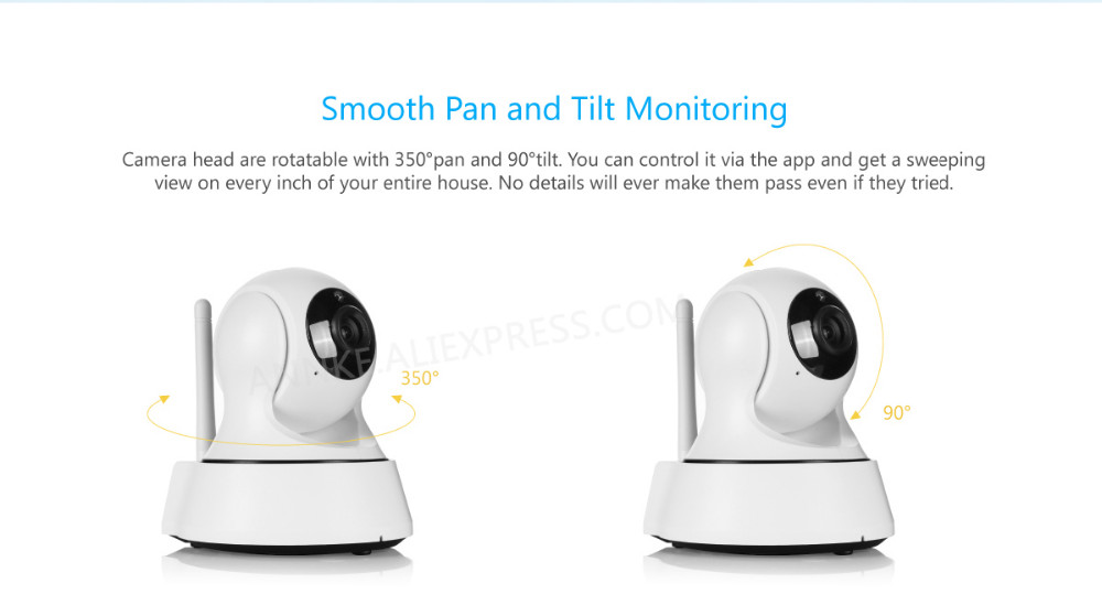 Sannce 720p Wireless Ip Camera Wifi Smart Ir Cut Night