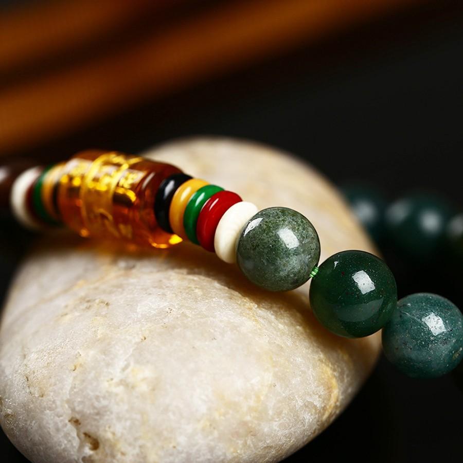 ef964ef89653 Joyería romántica y pulsera de piedra de ágata Natural de 8mm las seis  pulseras budistas Mantra pulseras de cuentas al por mayor Materiales   ágata Diámetro  ...