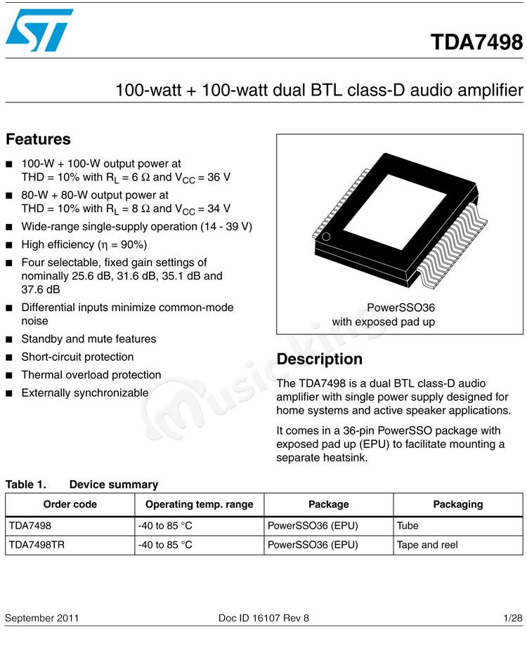 bb74db63426f4 Tipo de chip de Uma placa de amplificador de potência digital de alta  potência TDA7498 100 W + 100 W classe febre HIFI classe D produto acabado