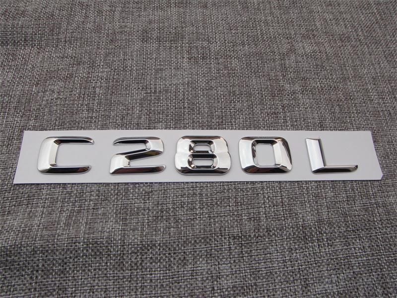⑥Chrome ABS Plastica Lettere Baule Posteriore Dell automobile Dell ... 1b445f21a470
