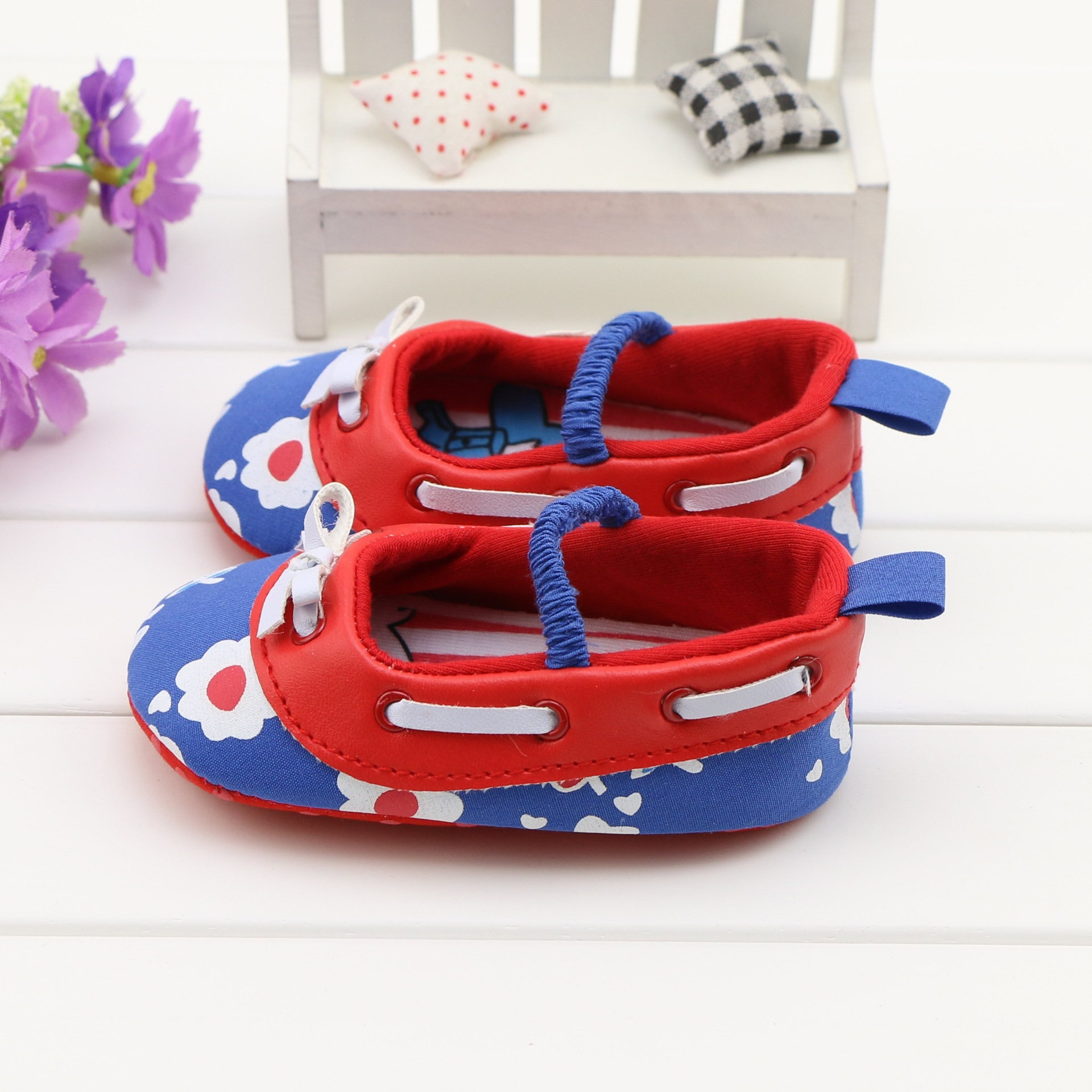 Baby Shoes 2018 New Polka Dot Bow Lace Trim Princess Shoes Baby Toddler Cute Shoes First Walkers High Quality Newborn Shoes Easy To Lubricate