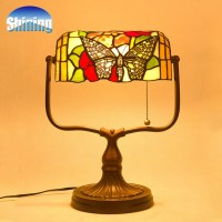 Vintage Bank Antique Romantic Tiffany Table Lamp -in Table ...