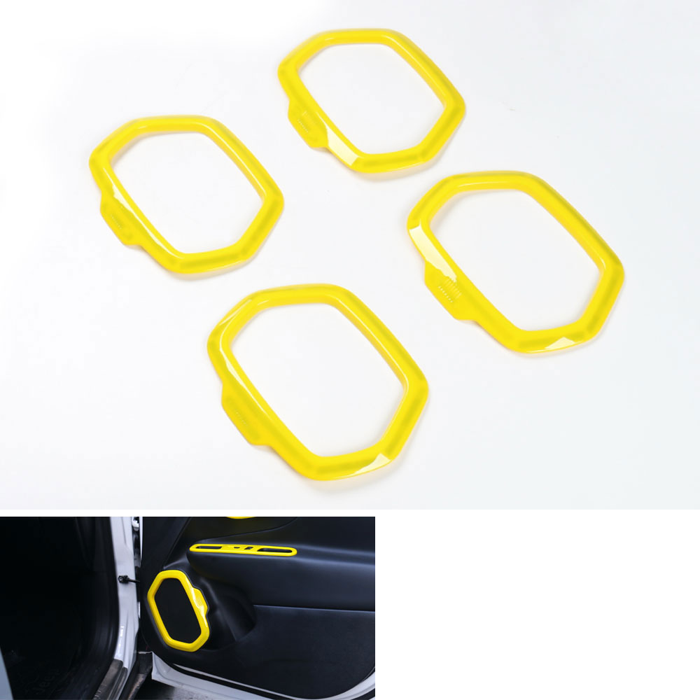 ̀ •́ 5 Colors 4pcs ABS Matt Inside Door Stereo Speaker Frame Cover ...