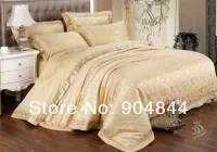 Gold Noble Silk King Size Bedding Set New Arrival ...