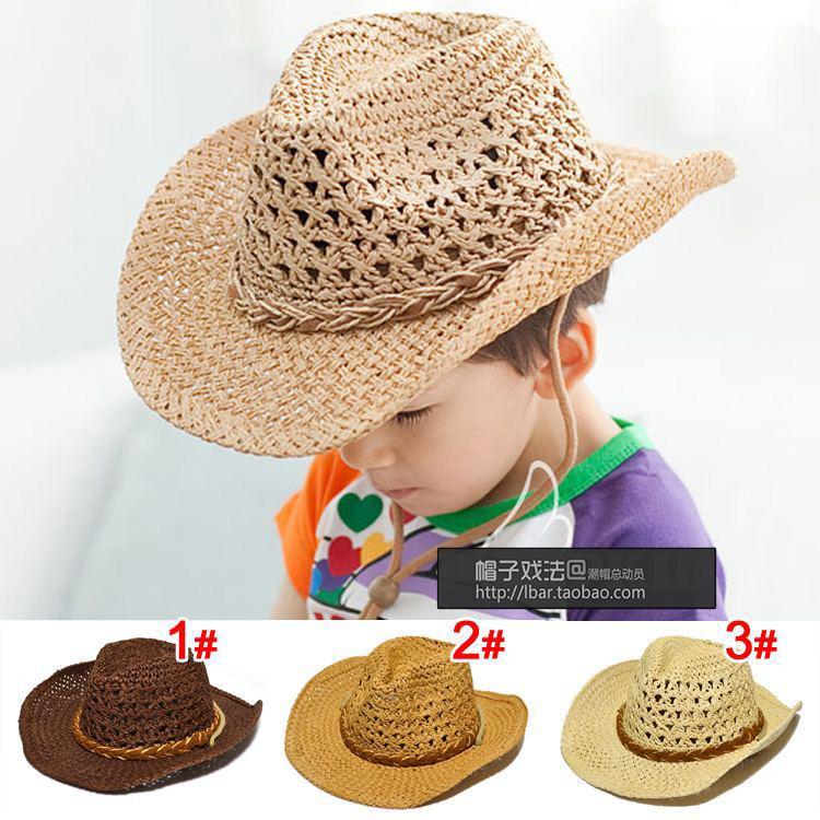 2018 nuevos niños de la manera sombrero de vaquero niños adulto ...