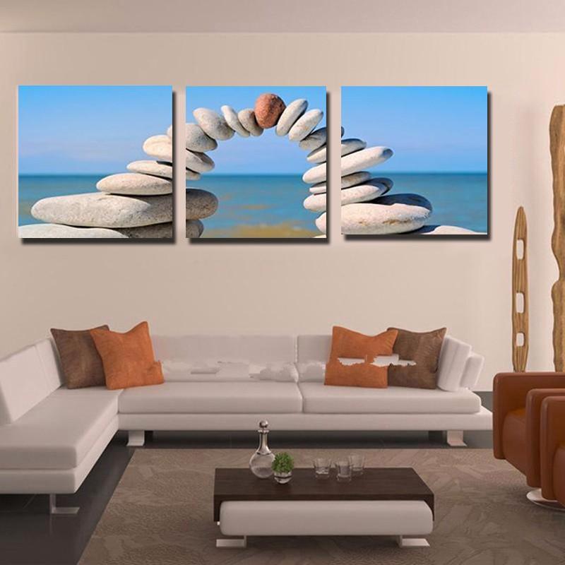 3 unidades decoración arte de la pared pintura de la lona del ...