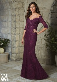 Elegant Plus Size Half Sleeve Plum Lace Mother of the ...