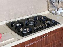 """30"""" Black Glass LPG NG Built in Kitchen 5 Burner Oven Gas ..."""