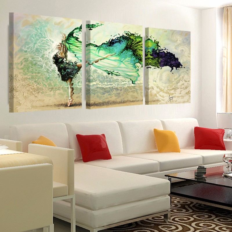 ᗖ3 Unidades Pintura Abstracta Arte de La Pared Impresión de la Lona ...
