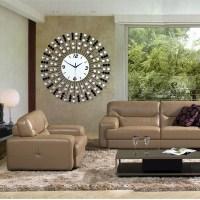 24 inches Modern Luxury Iron Wall Clock Diamond Creative ...