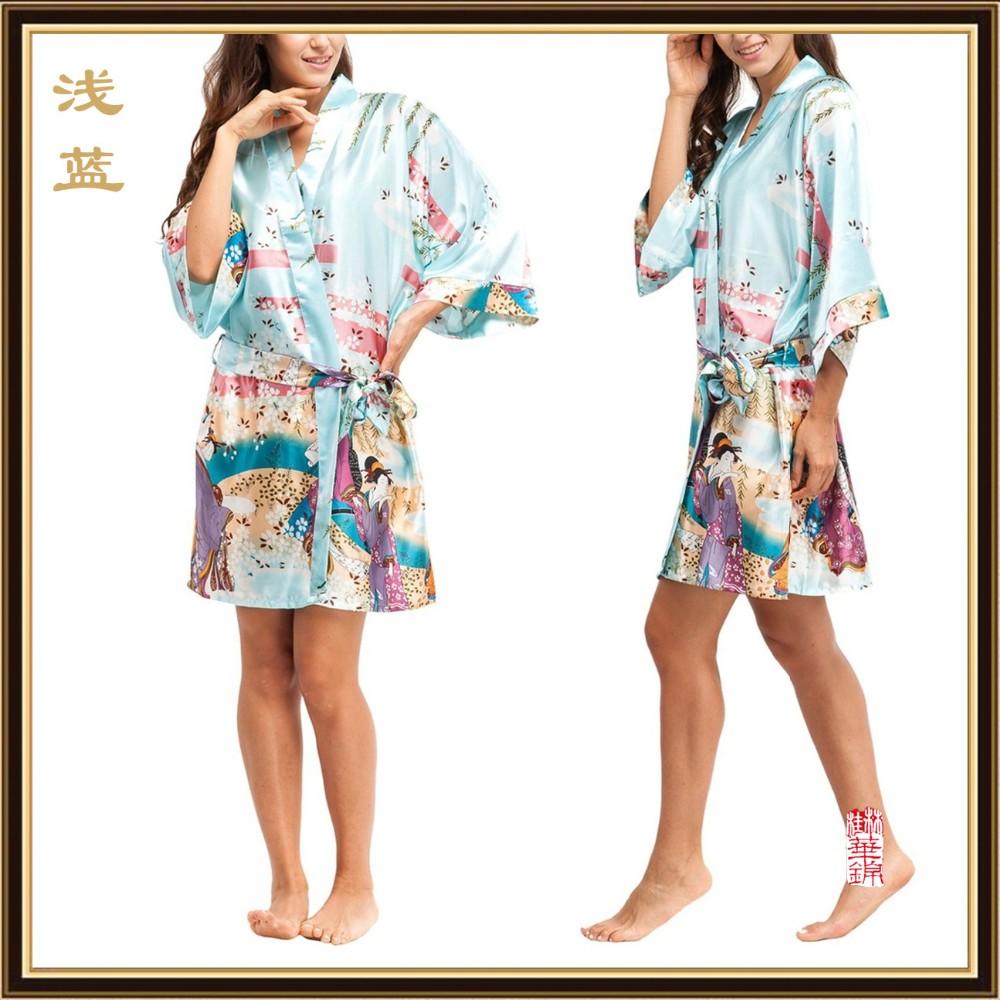 2016 Silk Kimono Roben Für Frauen Satin Bademantel Seidenroben Für ...
