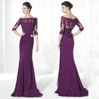 Purple Mother Of The Bride Dresses Floor Length