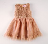 Summer Infant Dress Rose With Gold Line Baby Girls Dress