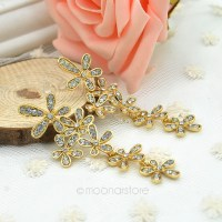 Pics For > Stylish Gold Earrings For Girls