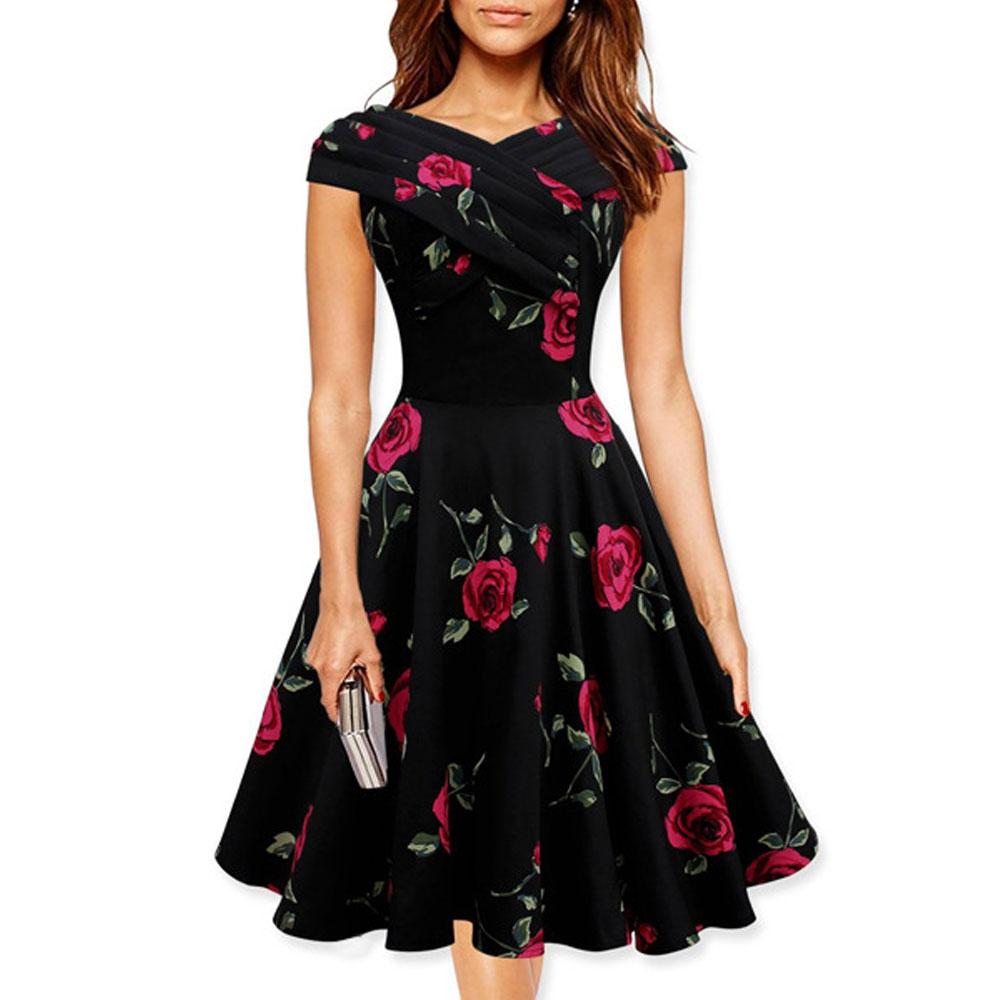 Summer Dress 2016 Vintage Rockabilly Dresses Jurken 60s