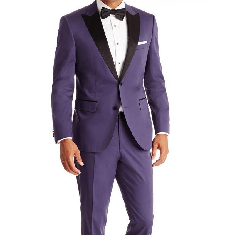 №2018 trajes de hombres de vestir novios Esmoquin para la boda de la ...