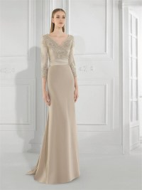 Gorgeous A Line New Champagne Mother of the Bride Lace ...
